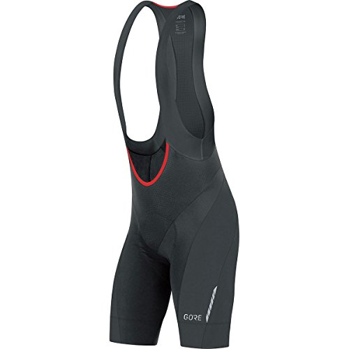 (GORE Wear Men's Breathable Road Bike Bib Shorts, With Pad, GORE Wear C7 Bib Shorts +, Size: M, Color: Black, 100180)