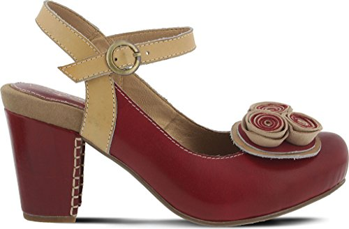Pictures of Spring Step Women's Adorn Red Sandal Red Red 6