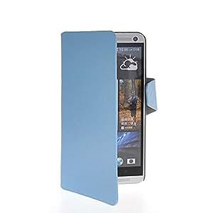 NEWcase Funda de cuero Cartera Carcasa Tapa Case Cover Para HTC One Max T6 Azul