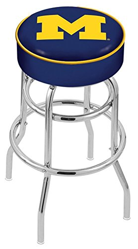Holland Bar Stool L7C1 University of Michigan Swivel Counter Stool, 25
