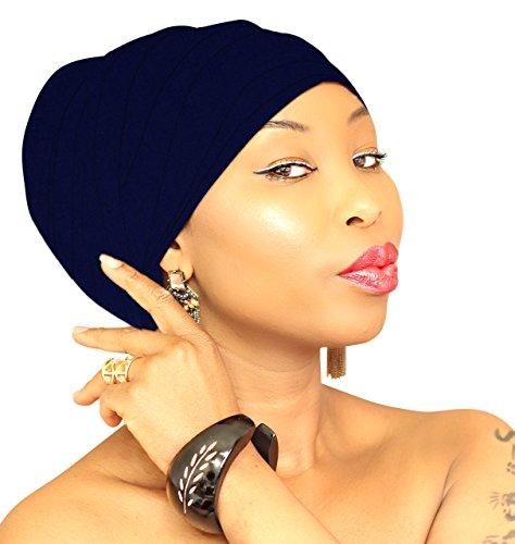 Price comparison product image Jersey Hijab Navy Head Wrap Stretchy Head Scarf DREADLOCK HEADWRAPS headscarf African Headband Bandana Turban / ROYAL HEAD WRAPS