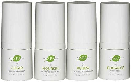 Natural & Organic Skin Care - The Spa Doctor: 5-Day System Kit of Daily Essentials 4-Step Skin Care System - Anti Aging Skin Care - Travel Kit - Safe For All Skin Types - Perfectly pH Balanced