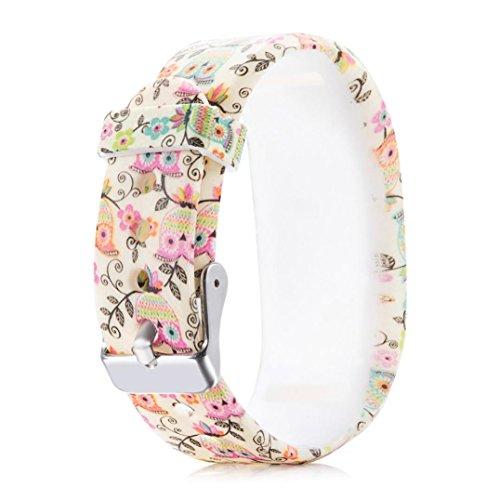 Kintaz Garmin Vivofit 3 Accessory Bands Replacement Sport Colourful Band With Plastic Clasps For Garmin Vivofit3 Activity Tracker Wireless Wristband Bracelet (K)