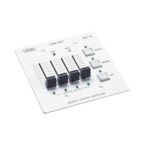 Leviton N0804-CP0 Remote Memory Control Panel, 4 Manual Slide - Slide Manual