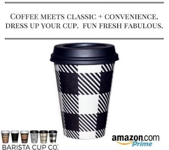 Barista™ #1 Disposable Paper Cups & Firm-Fit Lids; 100/pk 12 oz; FUN FRESH CLASSIC; By The Gripple Ripple Cups; EcoSmart - OFFICE-BREAKROOM-WEDDING-EVENT CUPS-HOLIDAY CUPS - Fits 8 Ounce Cups