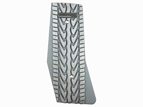 Shutt Nitroxx DPX4S Silver Aluminum Dead Pedal Kick Foot Rest Universal Fit