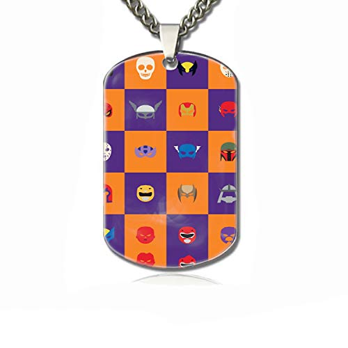 PANQJN Abstract Halloween Pet Necklace ID Tags for Dogs - Personalized Pet ID Name Tag Attachment -