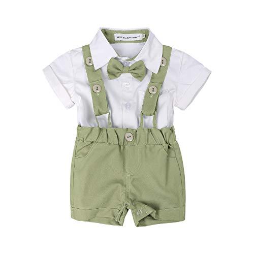 BIG ELEPHANT Baby Boys'2 Piece T-Shirt Suspender Shorts Clothing Set NA42 Fruit Green]()