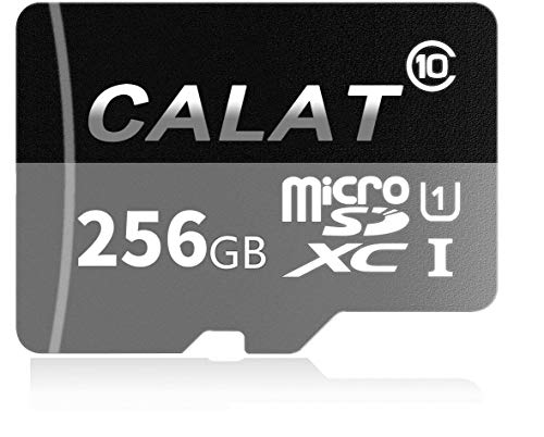 CALAT Micro SD SDXC Card 256GB High Speed Class 10 Memory Micro SD Card with SD Adapter by CALAT