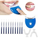 Teeth Whitening Kit, MayBeau Teeth Whitening Gel Kit Tooth Whitening Set With Led Accelerator Light, 10 Of 5 ml Gel Syringes, 2 Of Tray and Case for Tooth Whitening, Reusable For Office Home Teens