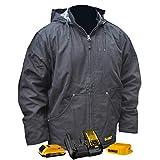 DEWALT DCHJ076ABD1-XL Heated Heavy Duty Work COAT, XL, Black