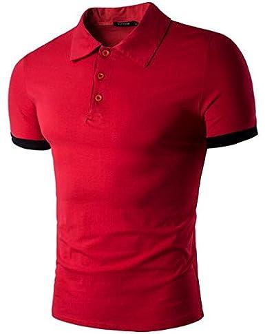 d18f479406b Amazon.com: Fashion Polo Homme Solid Wholesale Polo Shirt Casual Men ...