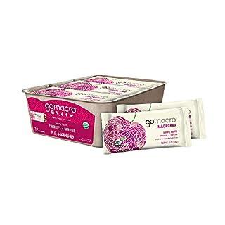 GoMacro MacroBar Organic Vegan Snack Bars - Cherries + Berries (2.0 Ounce Bars, 12 Count)