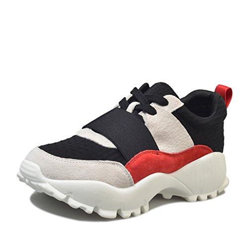 Sport Schuhe,Koreanische Version Der original-bett-Schuhe,Atmungsaktive mesh-Schuhe,Dick-soled Plattform Women Shoes A