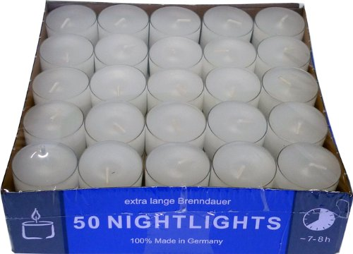 Gastropack Lot de 200bougies chauffe-plat avec coque transparente - 7–8heures de combustion Nordlicht Kontor