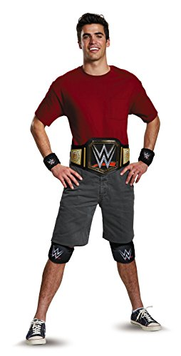 Disguise Men's WWE Championship Belt Adult Costume Kit, Multi, One Size by Disguise