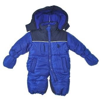 39d78eb725ac Amazon.com  U.S. Polo Assn. Boys 12-24 Months Color Block Snowsuit ...
