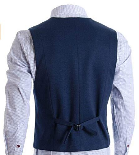 Mens Smoking Blau Vêtements Affaires Veste Costume Solennelle Élégant Skinny Mariage Décontracté Pour Les De Fit Gilet Slim anar1FU