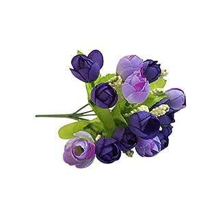 DraFenn 15Pcs 3Cm Silk Rose Artificial Flower Wedding Home Furnishings DIY Wreath Sheets Handicrafts Simulation 51