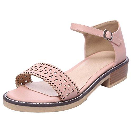 JOJONUNU Femmes Ete Ouvert Bout pink Sandales qZwxPgnSq