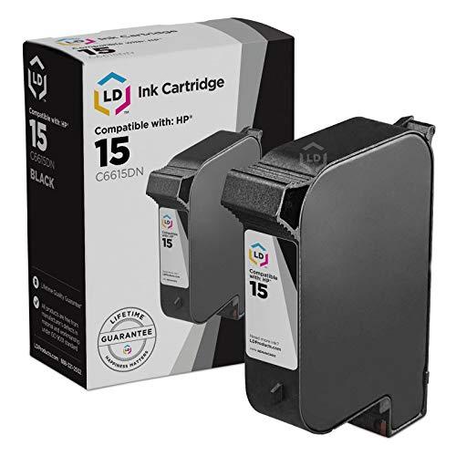 LD Remanufactured Replacement for HP 15 C6615DN Black Ink Cartridge for DeskJet 3820, 810, 812, 825, 840, 845, 920, 940, Fax 1230, OfficeJet 5110, V40 & PSC 500, 750, ()