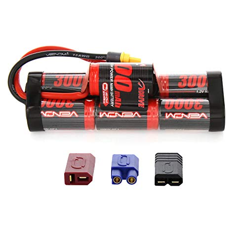Nimh Hump Battery - Venom 8.4V 3000mAh 7-Cell Hump Pack NiMH Battery with Universal Plug 2.0 (Traxxas / Deans / EC3)