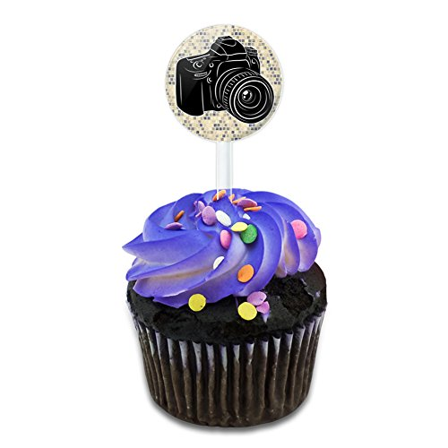Photographers Camera Cake Cupcake Toppers Picks Set ()