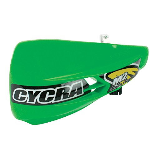 Cycra M2 Recoil Racer Pack Non-vented Handguards Green and Free Motoxtremes Sticker (Handguard Pack Racer Vented)