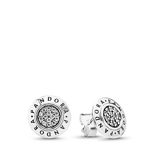c8688ae99 PANDORA Pandora Signature Stud Earrings, Sterling Silver, Cubic Zirconia,  One Size