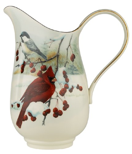 Gold Banded Fine China - Lenox Winter Greetings Scenic Gold-Banded Fine China Pitcher