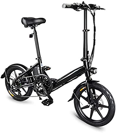 YONEER - Bicicleta eléctrica de aleación de Aluminio de 16 ...