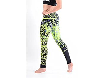 89596038d2255 Nebbia Art Disco Leggings 883, SizeL, Green: Amazon.co.uk: Sports ...