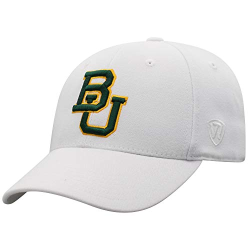 - Top of the World Baylor Bears Men's Memory Fit Hat Icon, White, One Fit