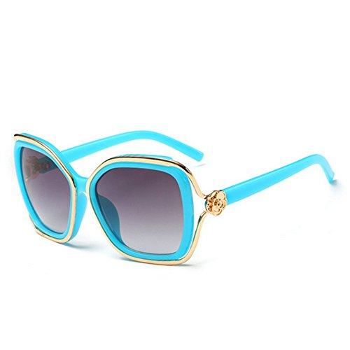 HaiBote Ms Sunglasses Retro Fashion Tide Colorful Mirror - Aviator Fibre Price In India Carbon