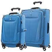Travelpro Maxlite 5-Softside Expandable Spinner Wheel Luggage, Azure Blue, 2-Piece Set (21/25)