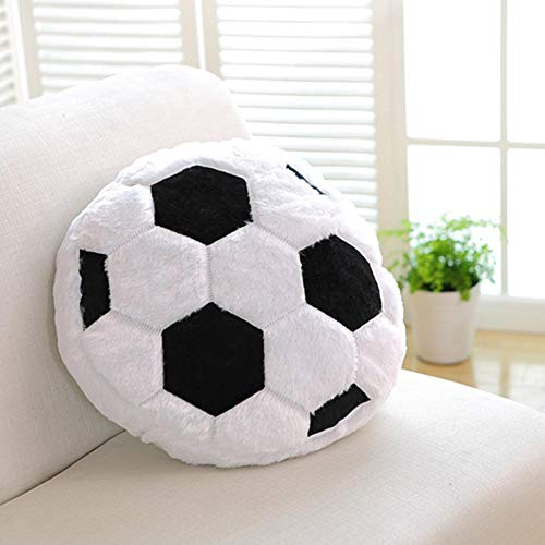 Cushion Creative Soccer Ball Shaped Pillow Fluffy Stuffed Plush Soft Durable Sports Toy Gift for Home Decoration (Pillow Plush Soccer)
