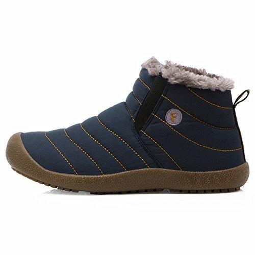 Alti Caldi SITAILE all'aperto e Blu Imbottiti di Stivali Stivali Donna Stivoletti Caldi Uomo Boots Inverno qwXrgtX