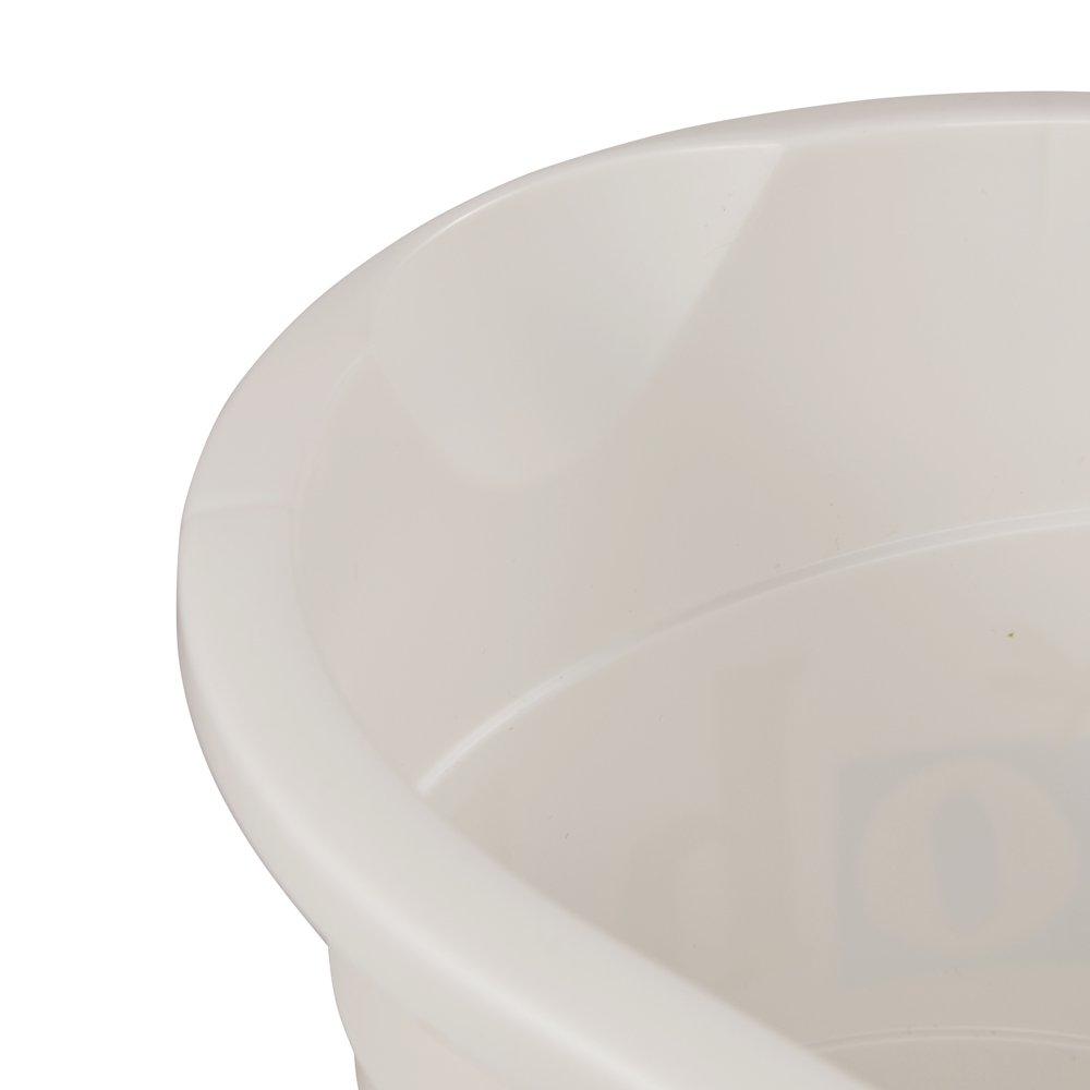 Plastorex Seau /à Langer D/écor/é Blanc avec D/écor
