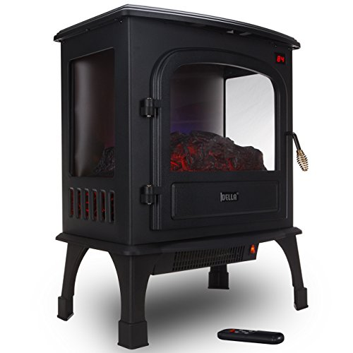Della 1500W Electric Stove Heater Portable Fireplace Freestanding Log Wood w/ Remote (Woodburning Fireplace Heater compare prices)