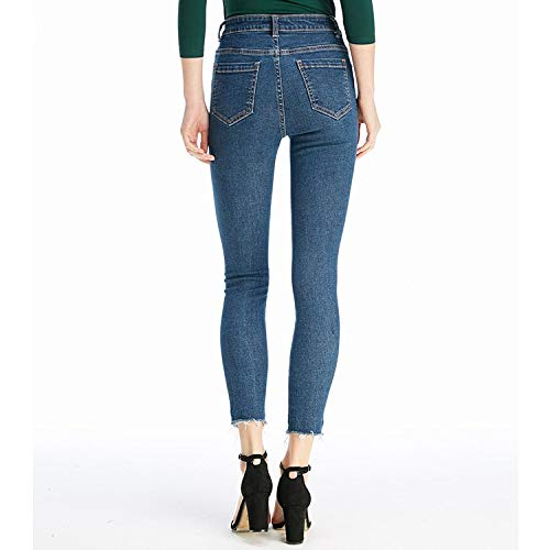 ed elastici jeans jeans sono vita alta Cowboy sottili nuovi S MVGUIHZPO XL blue I donna a SwadPvPq