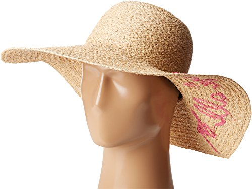 Hat Attack Cotton Hat (Hat Attack Women's What's Your Motto Sun Hat Natural/Pink Rose All Day)