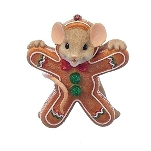 """Roman - 2.75""""MOUSE GINGERBRD COOKIE FG YOUR SWEETNESS MAKES ME SMILE"""