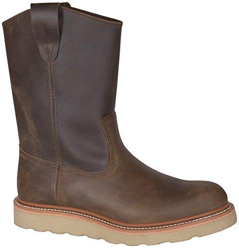 - Golden Retriever Mens Brown Buffalo Leather Work Wellington Wedge 14M