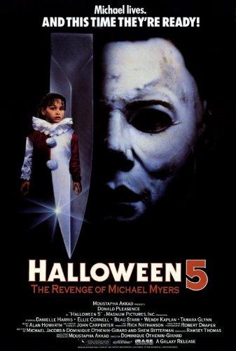 Halloween 5: The Revenge of Michael Myers Poster 27x40 Donald Pleasence Ellie -