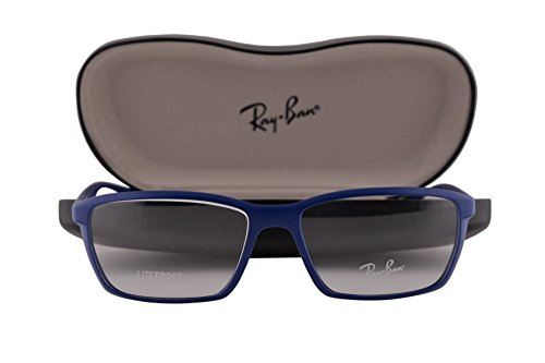 Ray Ban RX7018 Eyeglasses 54-16-145 Matte Blue 5207 RX - Glasses Ray Ban Nerd