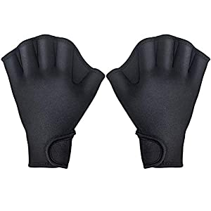 TAGVO Aquatic Gloves for Helping Upper Body Resistance, Webbed Swim Gloves Well Stitching, No Fading, Sizes for Men…