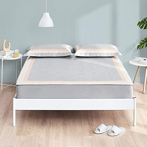 WJ 夏用スリーピングマット 炭化させた竹睡眠マット、家庭用ダブル折り畳み式洗えるベッドのLi部氷シルクマット3点セット(2色) /-/ (Color : Gray, Size : 1.5x2m)