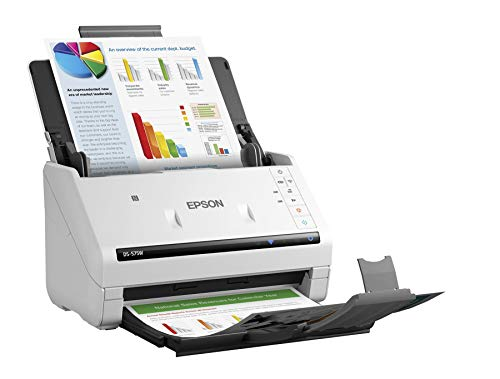 Epson DS-575W Wireless Document Scanner: 35ppm, Twain & ISIS Drivers, 3-Year Warranty with Next Business Day Replacement (Renewed)