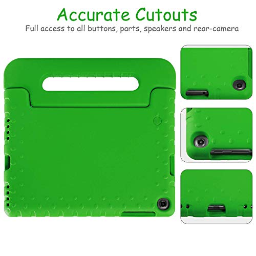 BMOUO Kids Case for Samsung Galaxy Tab A 10.1 (2019) SM-T510/T515, Shockproof Light Weight Protective Handle Stand Kids Case for Galaxy Tab A 10.1 Inch 2019 Release SM-T510/T515 - Green