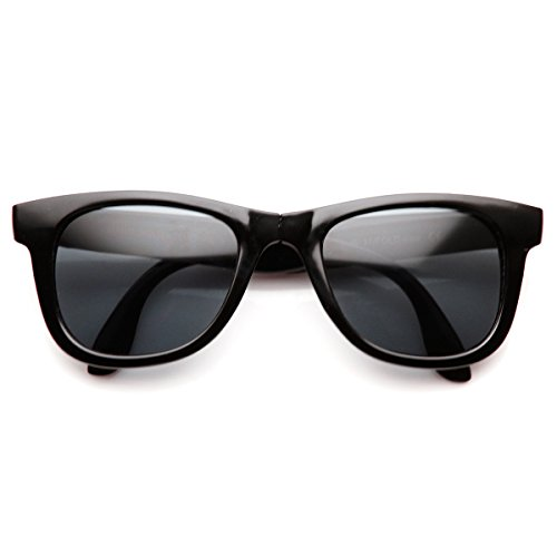 zeroUV - Classic Folding Compact Pocket Fold-Up Horn Rimmed Sunglasses (Black-White - Fold Sunglasses Up